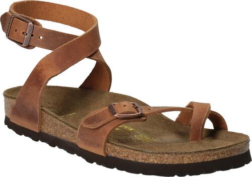 b2a21685a6ed Birkenstock Kožené sandály na korkové podešvi - Glami.cz