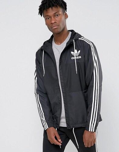 Adidas originals clfn veste coupe vent ay7747 noir - Veste coupe vent adidas femme ...