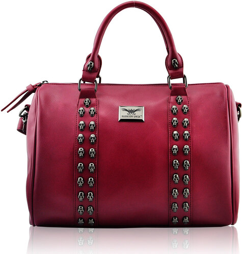 77761e4b2265 Červená kabelka s lebkami LS Fashion LS0050A-red - Glami.cz