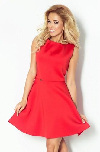 7cd2b40cceac NUMOCO Luxusní dámské společenské a plesové šaty červené bez rukávu NOMOCO  78-3