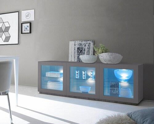 Sideboard mit Glaseinsatz »Zela«, 3-türig, Breite 184 cm