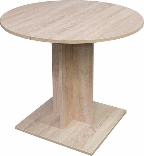 Esstisch rund, Durchmesser 80 cm mit Auszugsfunktion