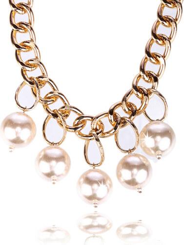 61a0e0ae7 Fashion Icon Náhrdelník řetěz s perlami NK0013-0314 - Glami.cz