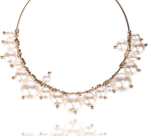 0bff57267 Fashion Icon Náhrdelník perly na obruči NK0016-0314 - Glami.cz