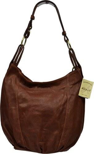 hnědé kožené kabelky Lagia Marrone