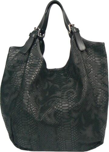 Černá kožená kabelka Adelaide Nera Serp