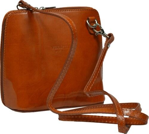 Malá kožená kabelka Grana Camel