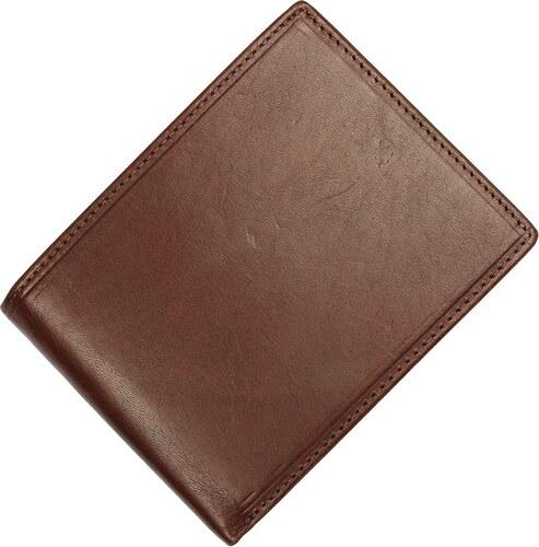 Hnědá kožená peněženka PT004 Marrone
