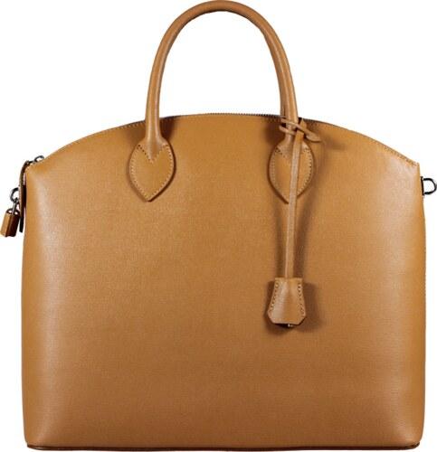 NovaKabelka.cz genuine leather kabelky Ofelia Camel Chiaro