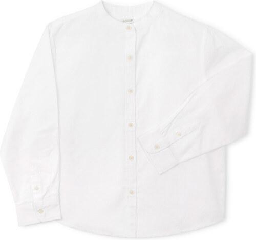 Chemise Mao Oxford - Blanc