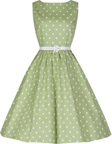 Zelené puntíkaté retro šaty Lindy Bop Audrey - Glami.cz 1a6c605ad0