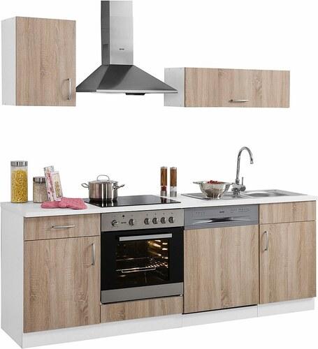 Küchenzeile »Brilon« mit E-Geräten, Breite 220 cm