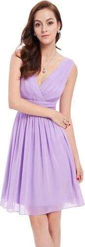 Ever Pretty letní šaty krátké jemné fialové 3989 - Glami.cz 26bffefc37
