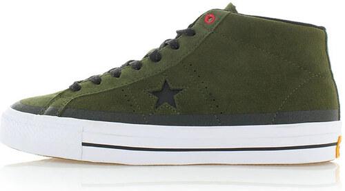 Pánské tmavě zelené kotníkové tenisky Converse One Star Pro - Glami.cz eedeb7a94be