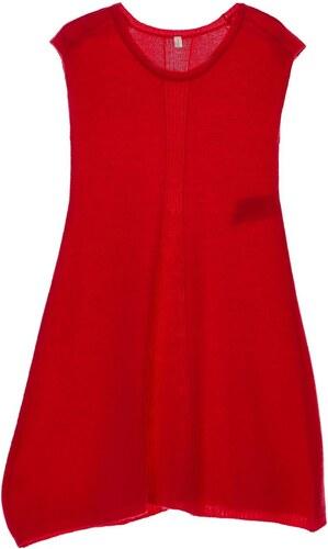 0 1 2 Kleid mit Trapezschnitt - fuchsienrosa