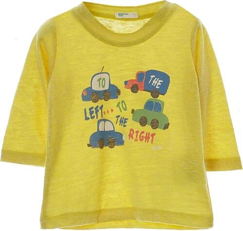Benetton T-shirt en coton mélangé - jaune
