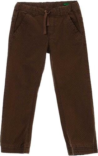 Benetton Pantalon en coton mélangé - marron clair