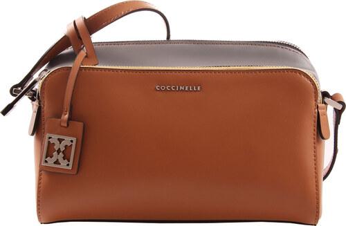Coccinelle Luxusní kožená kabelka Dafne Calf Calf Cuoio Aspha Ner XC1 15 01  01 24d6f3d72a0