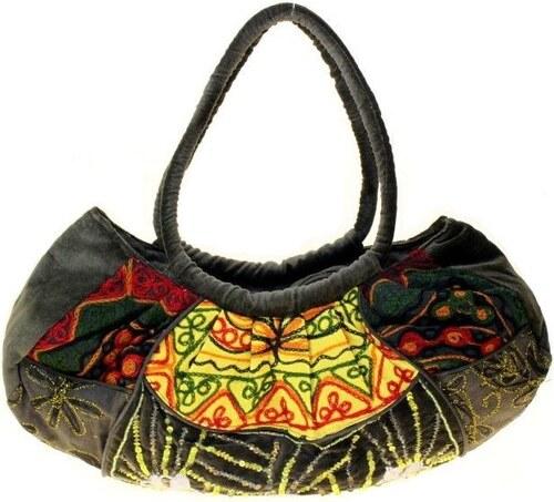 Dámská sametová kabelka