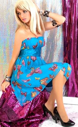 Luxusní barevné šifónové šaty
