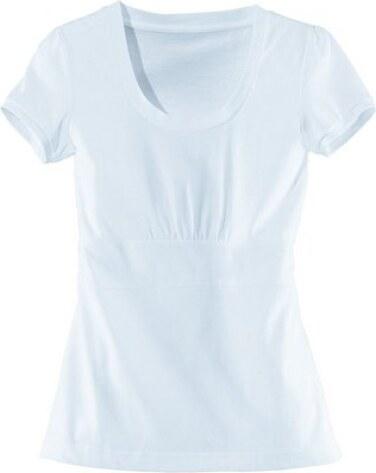 Bílé tričko s řasením