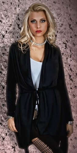 Elegantní úpletový kardigan – kabátek