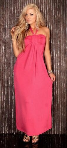 Dlouhé růžové šaty