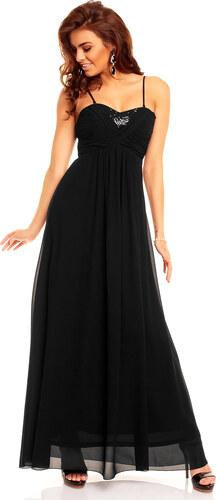 Dlouhé černé plesové šaty Paříž