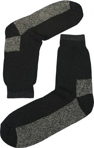 95f24f8d2aa Sport Teplé vlněné ponožky Thermo 39-42 černá - Glami.cz