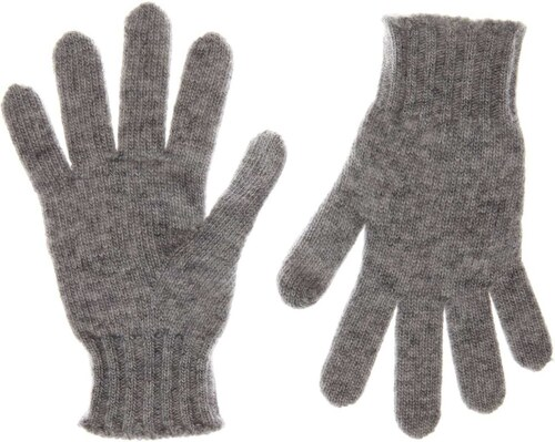Benetton Paire de gants en laine mélangée - gris