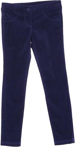 Benetton Pantalon effet velours - bleu