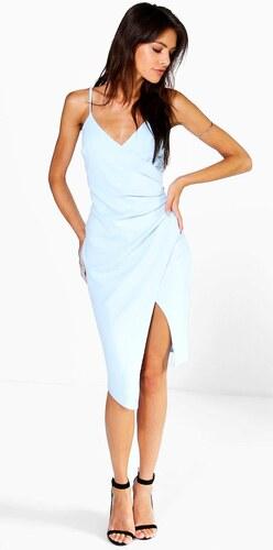 88d78d6beb40 BOOHOO Body šaty Inna v modrom odtieni - Glami.sk