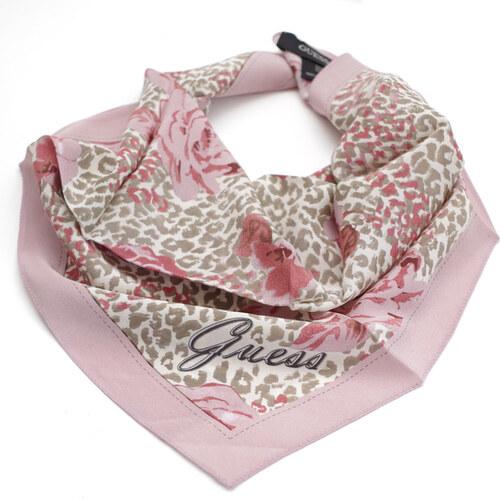 Guess hedvábný šátek s motivy květů - Glami.cz 6dbc772b6f