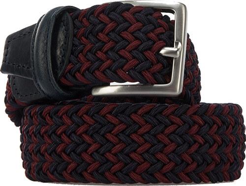 Andersons Gürtel aus geflochtenem Textil in Dunkelblau-Dunkelrot