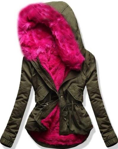 Parka khaki/pink B3328