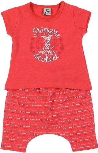 64 Princesse des mers - Ensemble t-shirt et sarouel - framboise