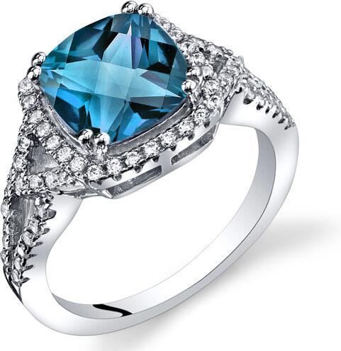 fc3ee916f Eppi Stříbrný prsten s topazem a zirkony Delly - Glami.cz