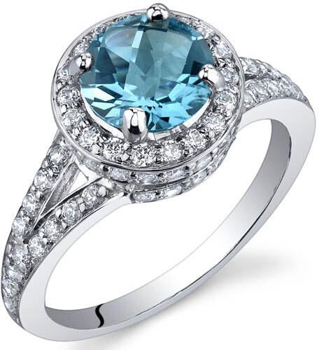 ad3128bb1 Eppi Stříbrný prsten s topazem a zirkony Alyf - Glami.cz