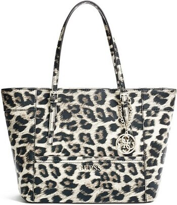 ffa398fb37 Guess kabelka Delaney Leopard-Print Small Classic Tote - Glami.cz
