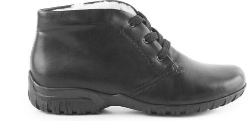 Rieker - Dámské zimní boty ke kotníku se šněrováním šíře H L4630-00   černá 823e4b696e