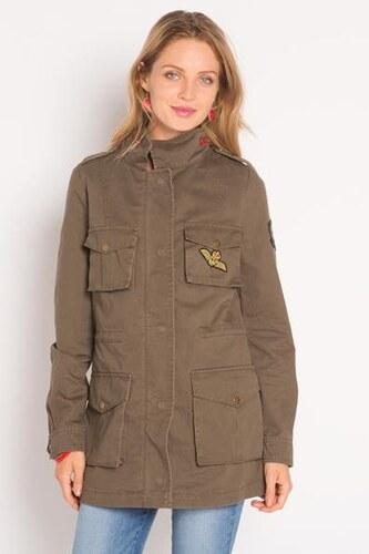 Army Qu5xyxxw Style Femme Vert Légère Coton Cache Parka 0 Taille lOPikXwuTZ