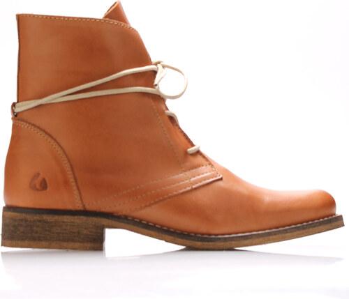 7d4581de827 Koňakově hnědé kožené šněrovací boty Online Shoes - Glami.cz