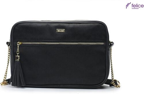 dámska čierna crossbody kabelka Felice (FB02 black) odtiene farieb  čierna a50c2036efe