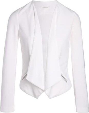 Veste Unie Cache Pans Blanc 0 Taille Femme Blazer À Polyester w6rT5wxz