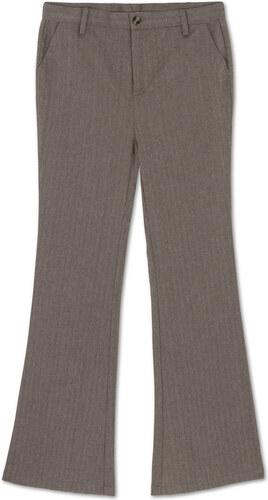Pantalon Pattes d'Eléphant Chevron – Gris Taupe