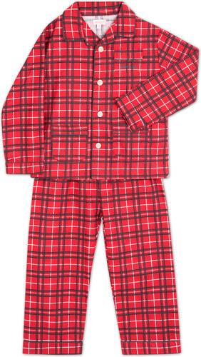 Pyjama long écossais rouge
