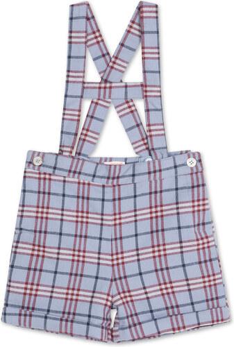 Pantalon Court Écossais - Grenat