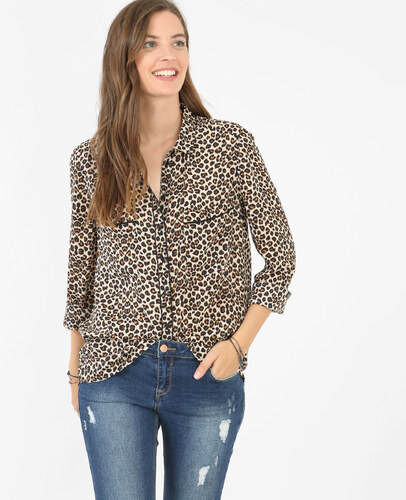 Chemise fluide léopard brun, Femme, Taille S -PIMKIE- MODE FEMME ... ed1eeaae115e