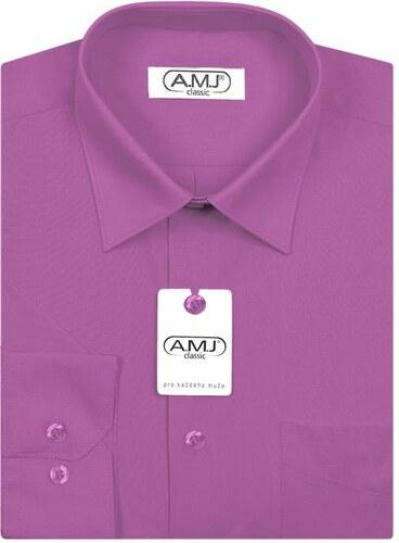 Pánská košile AMJ jednobarevná JD081 1f458cd86e