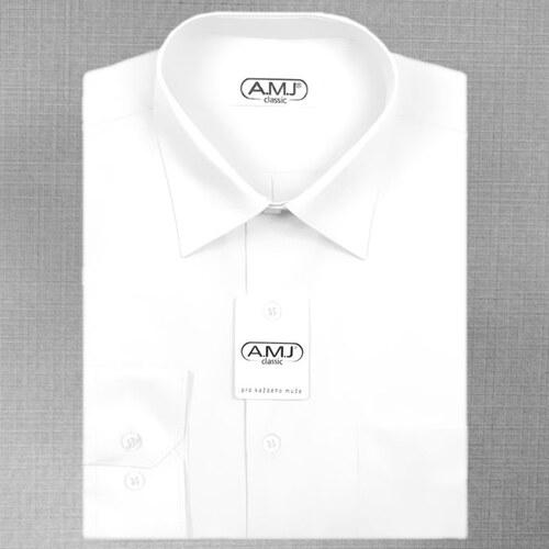 Pánská košile AMJ jednobarevná JDPS018 1f539b1f1b
